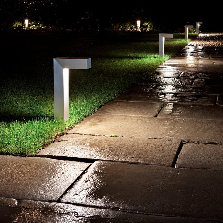 Modern FLOS 45 ADJ LED 2 Outdoor Path Lamp in Black by Tim Derhaag For Sale