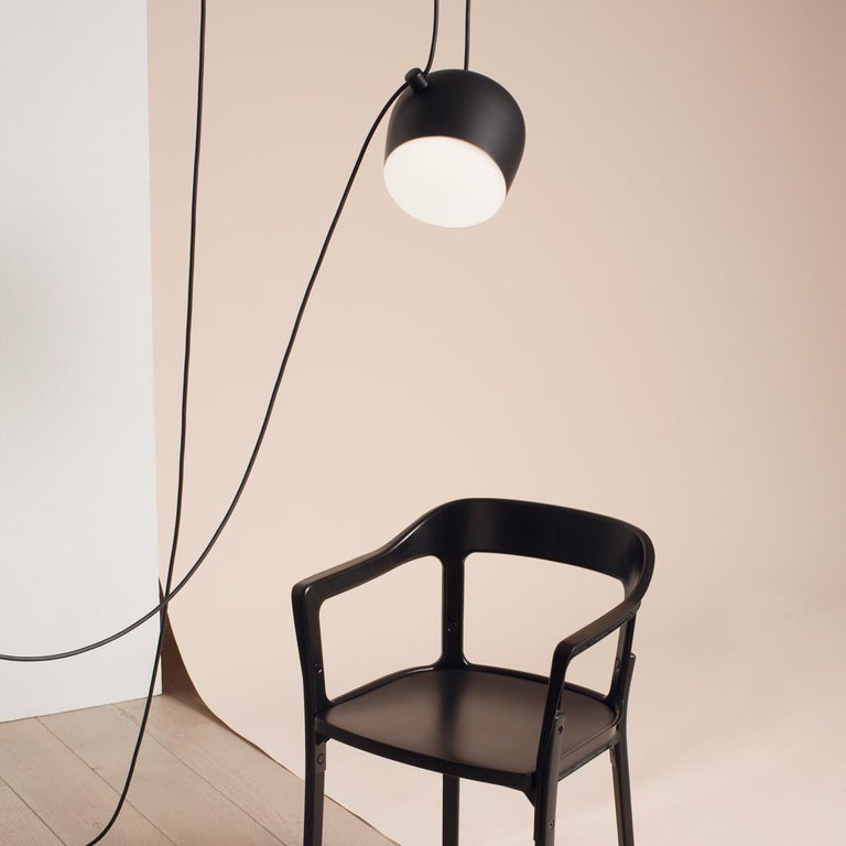 Bouroullec Modern Black Pendant Aim Five Light Set w/ Canopy for FLOS, in stock For Sale 1
