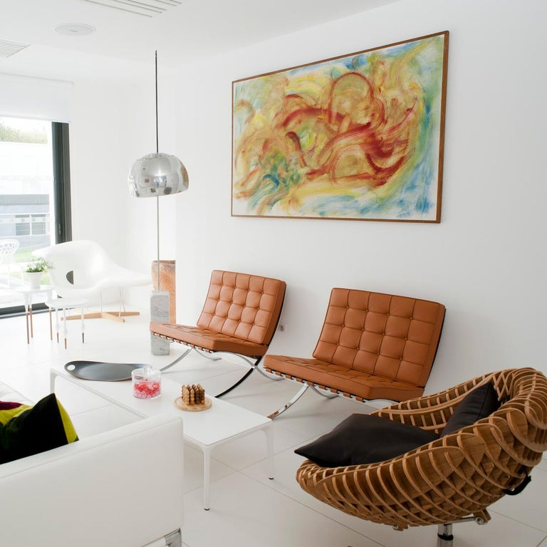 Castiglioni Arco Modern Arch Stainless Steel & Marble Floor Lamp, FLOS, in stock For Sale 3