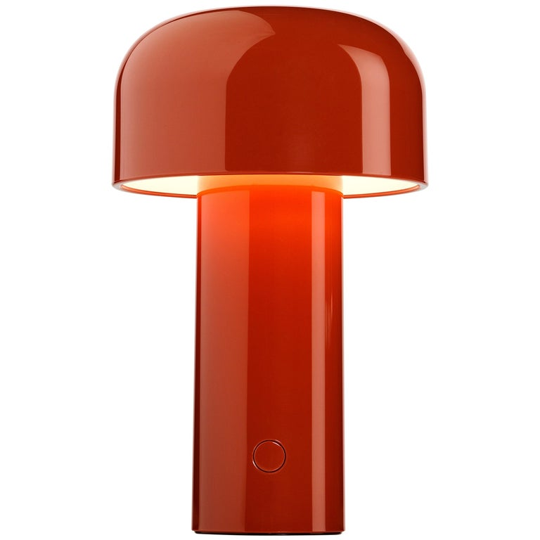 FLOS Modern Resin Burnt Orange Portable Rechargable Wireless Desk & Table Lamp For Sale