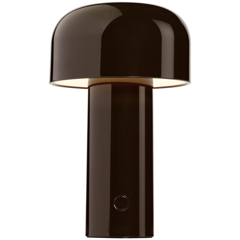 Modern Resin Dark Brown Portable Rechargable Wireless Desk & Table Lamp for FLOS