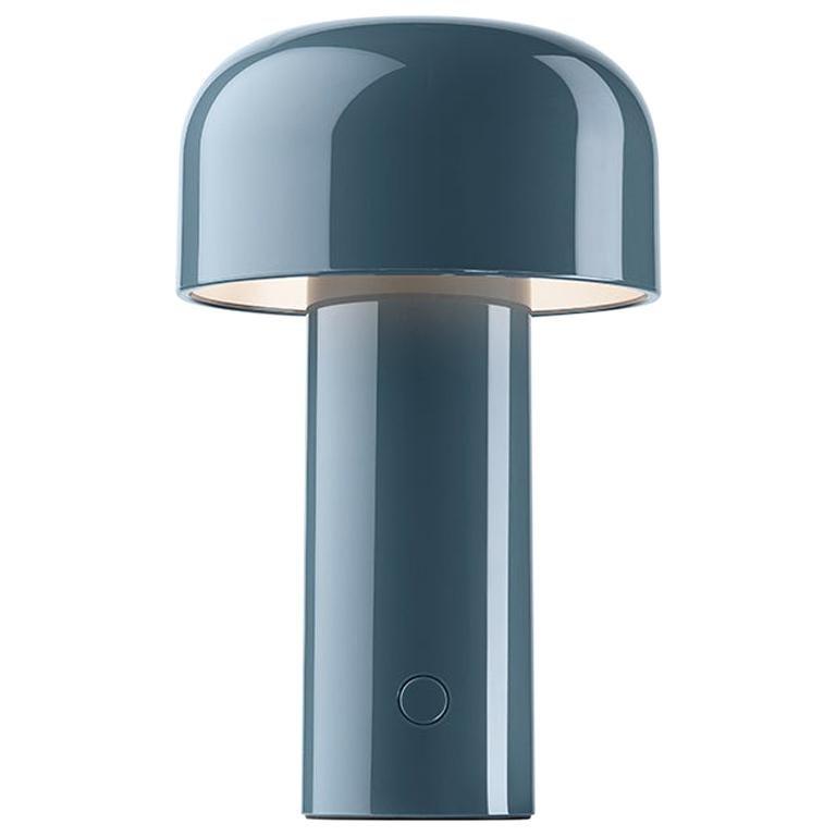 Modern Resin Grey Blue Portable Rechargable Wireless Desk or Table Lamp for FLOS