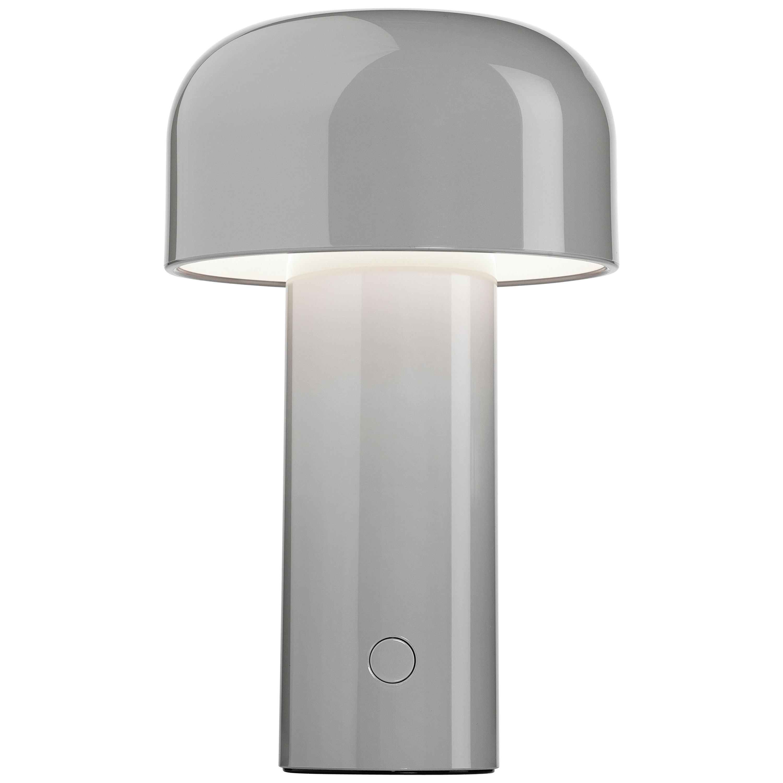 Modern Resin Grey Portable Rechargable Wireless Desk or Table Lamp for FLOS