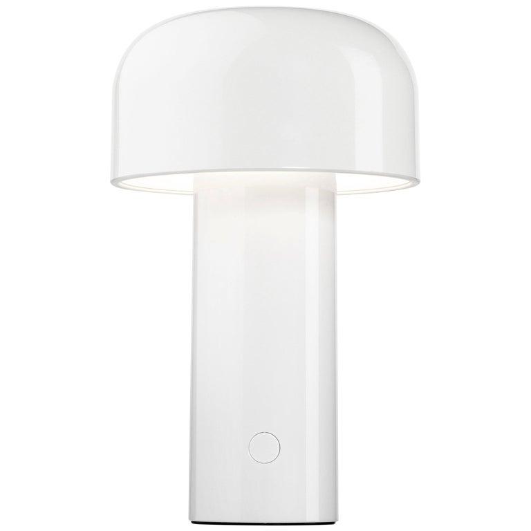 Modern Resin White Portable Rechargable Wireless Desk or Table Lamp for FLOS For Sale