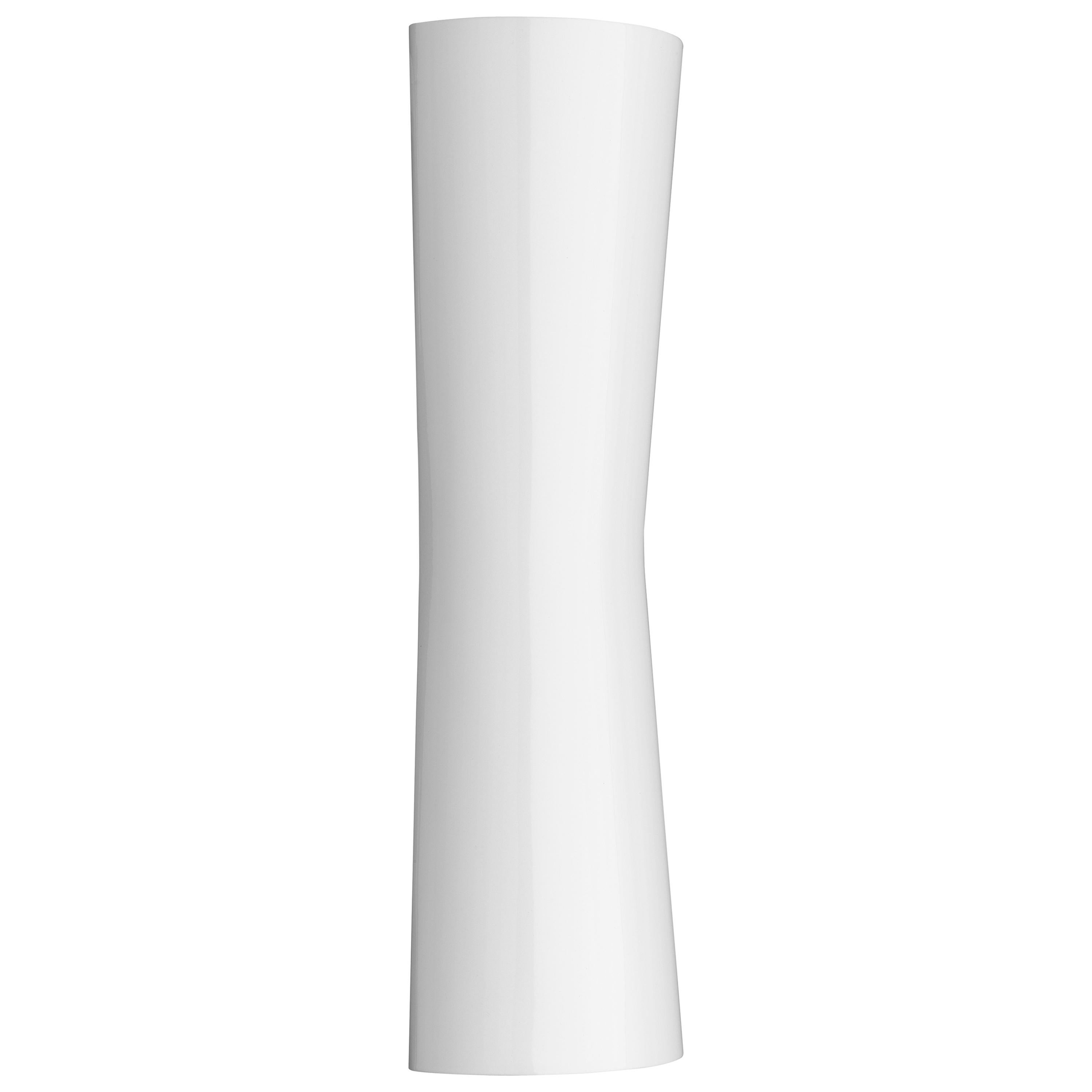 FLOS Clessidra 20° + 20° Indoor Wall Lamp in Glossy White by Antonio Citterio