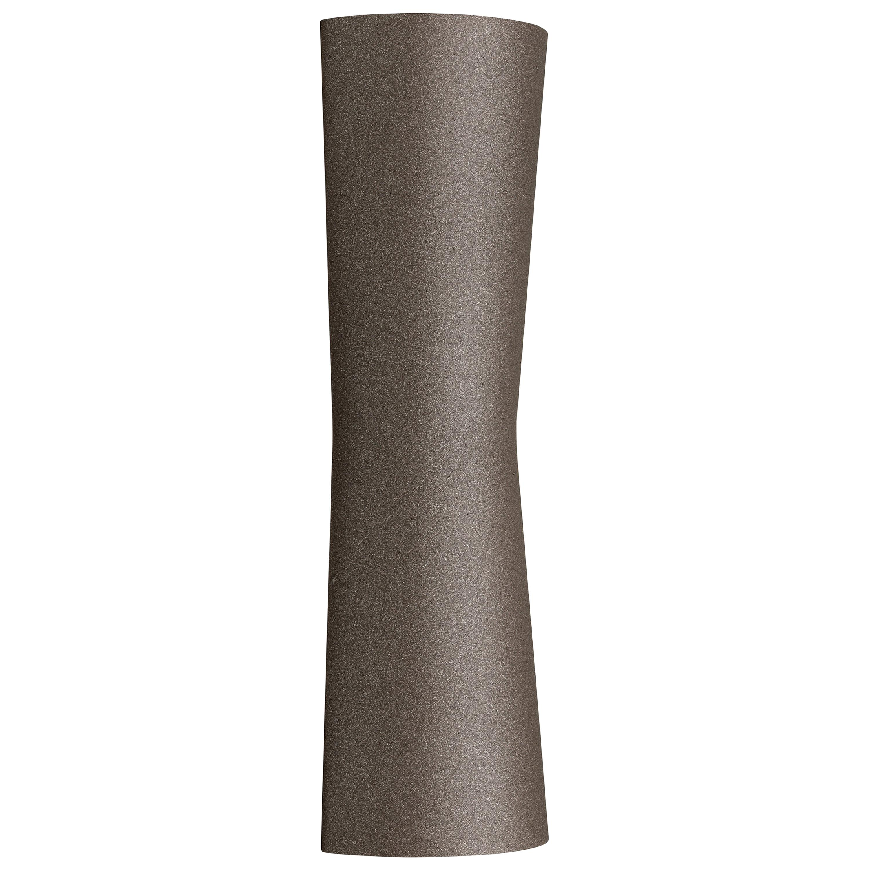 FLOS Clessidra 40° + 40° Outdoor Wall Lamp in Deep Brown by Antonio Citterio