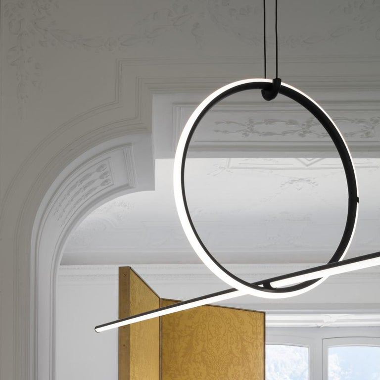 FLOS Drop Down and Medium Circle Arrangements Light by Michael Anastassiades In New Condition For Sale In New York, NY