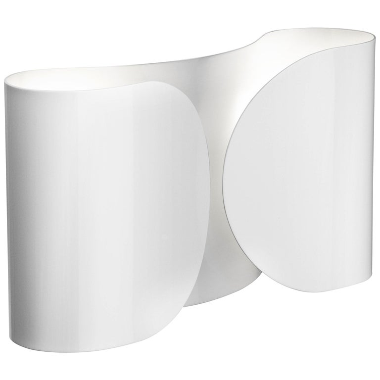 FLOS Foglio Light in White by Tobia Scarpa For Sale