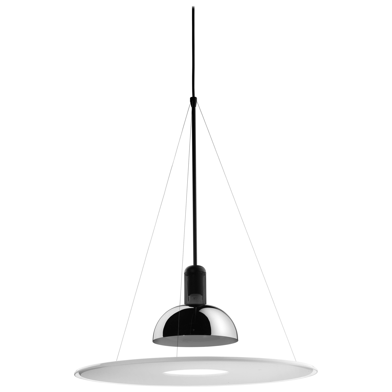 FLOS Frisbi Pendant Light in Black by Achille Castiglioni