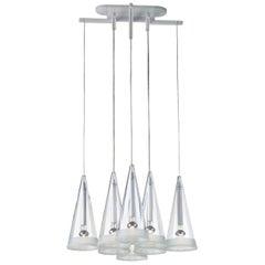 FLOS Fucsia 8 Pendant Light w/ Clear Cord by Achille Castiglioni