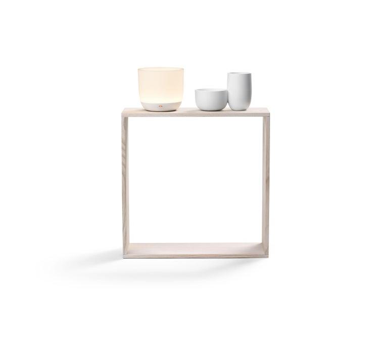 Italian Flos Gaku Wireless Table Lamp in White by Nendo For Sale
