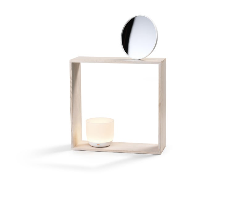 Flos Gaku Wireless Table Lamp in White by Nendo In New Condition For Sale In New York, NY