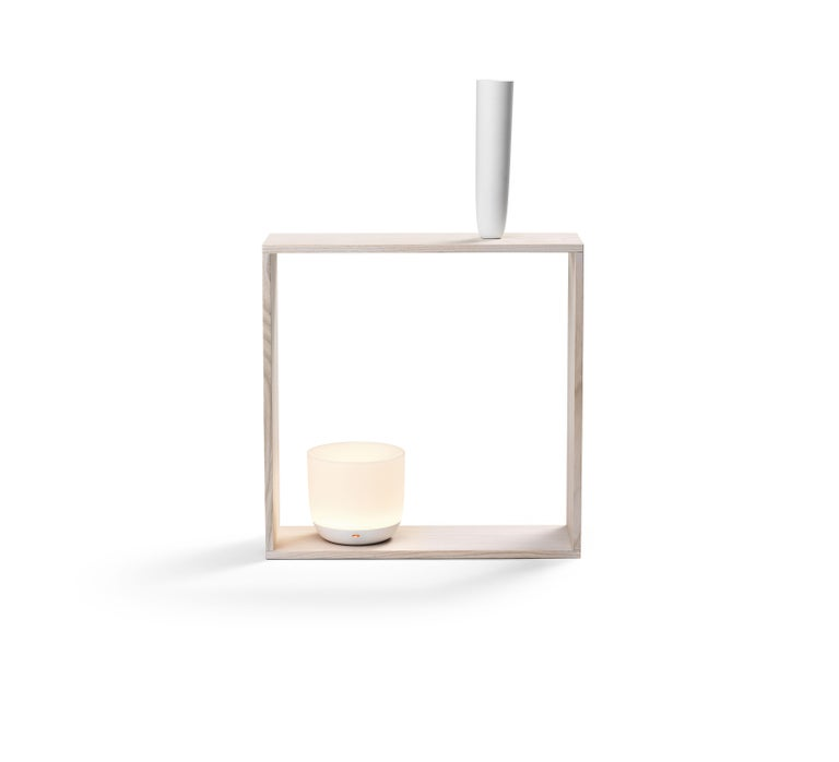 Contemporary Flos Gaku Wireless Table Lamp in White by Nendo For Sale