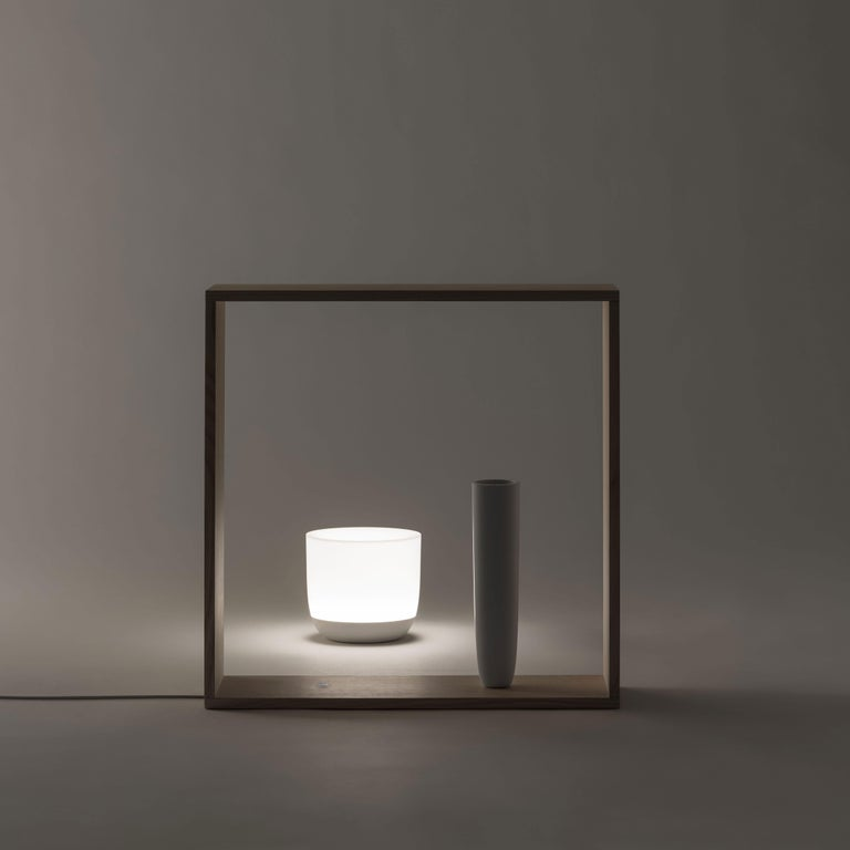 Ash Flos Gaku Wireless Table Lamp in White by Nendo For Sale