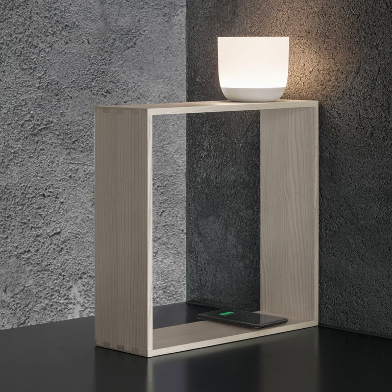 Flos Gaku Wireless Table Lamp in White by Nendo For Sale 2