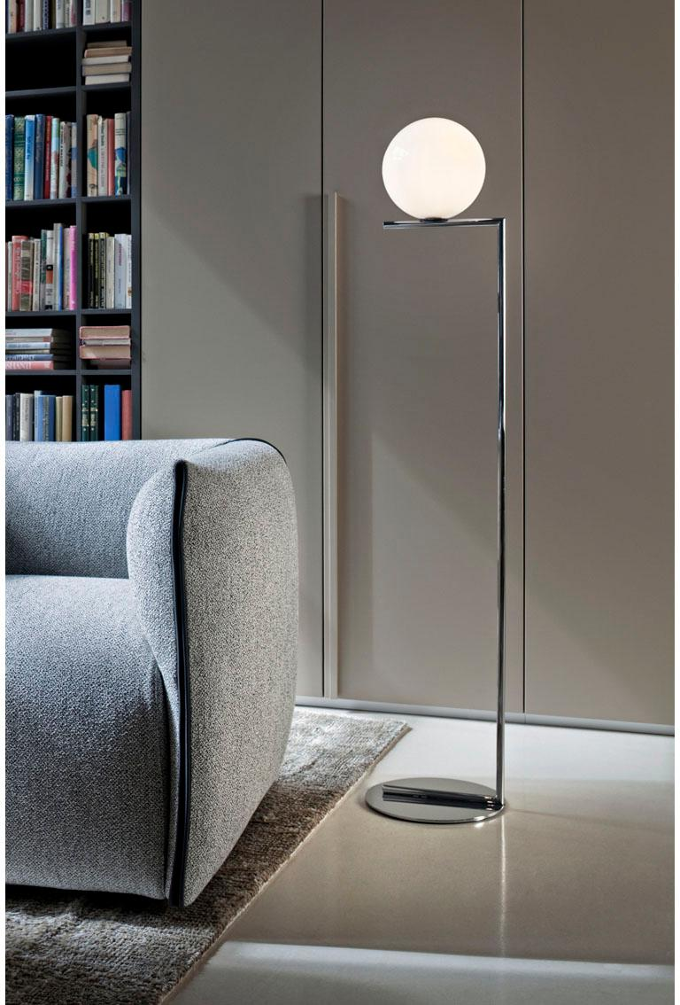 new arrivals 8e6da 93c04 FLOS IC Lights F1 Floor Lamp in Chrome by Michael Anastassiades