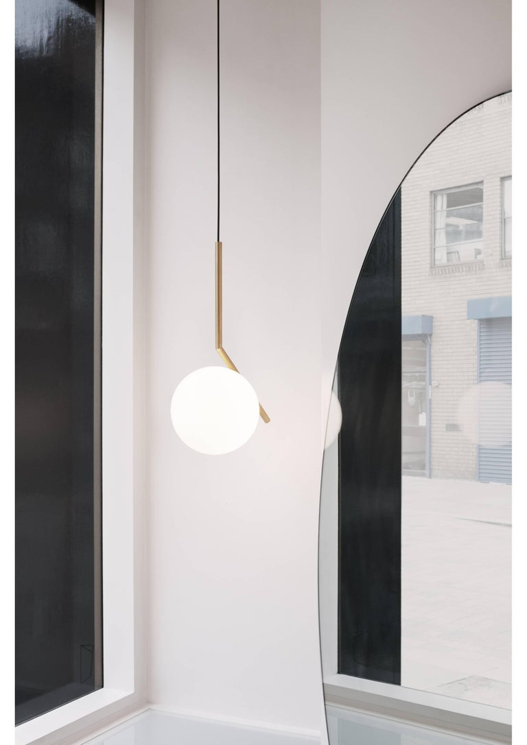 Modern FLOS IC Lights S1 Pendant Light in Brass by Michael Anastassiades For Sale