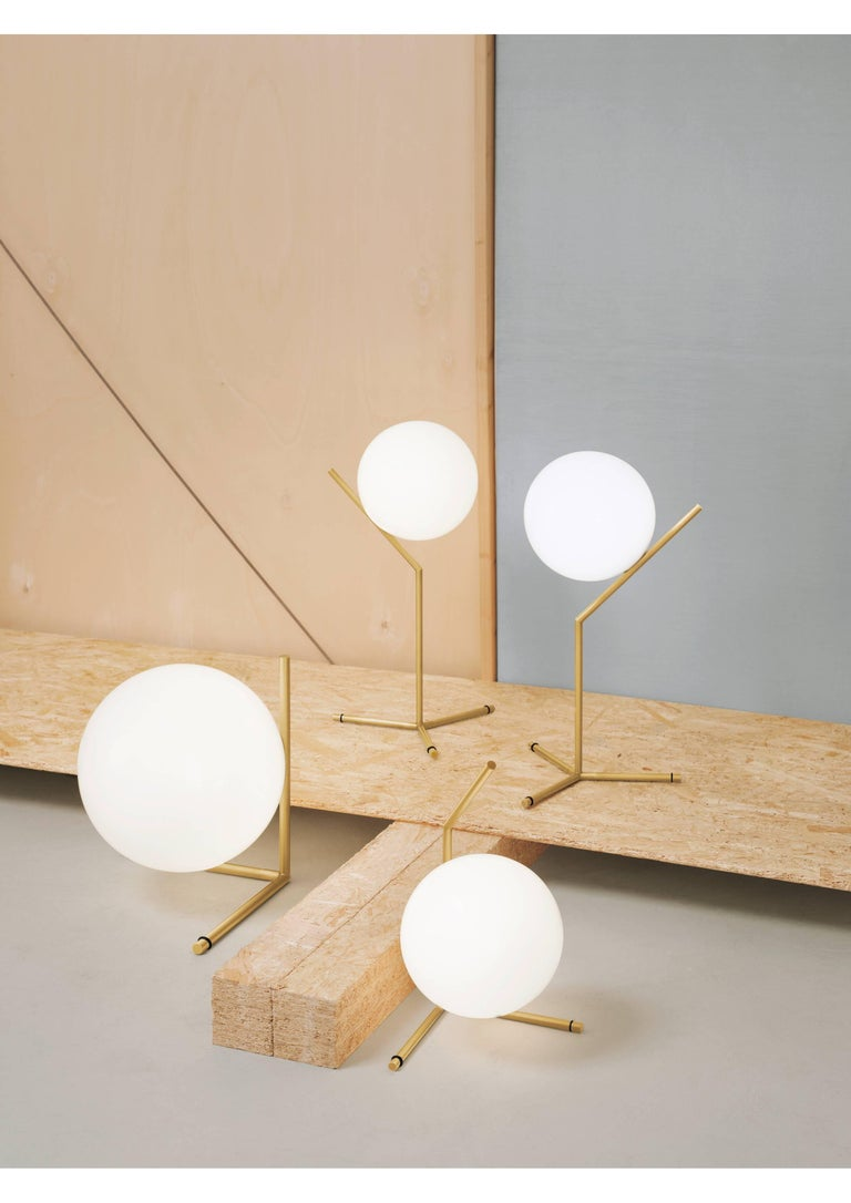 Modern FLOS IC Lights T1 High Table Lamp in Brass by Michael Anastassiades For Sale