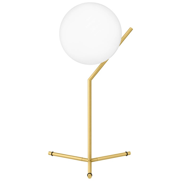 FLOS IC Lights T1 High Table Lamp in Brass by Michael Anastassiades For Sale