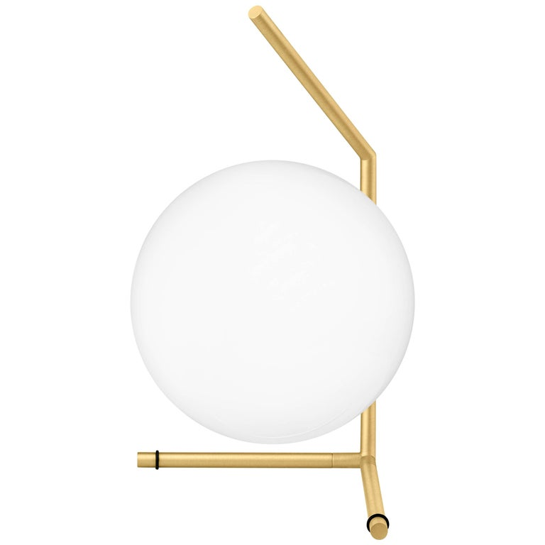 Michael Anastassiades Modern Minimalist Brass & Glass Table Desk Lamp for FLOS For Sale