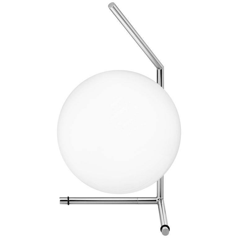 FLOS IC Lights T1 Low Table Lamp in Chrome by Michael Anastassiades For Sale