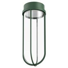 Flos In Vitro 2700K 0-10V LED Ceiling Light in Forest Green by Philippe Starck