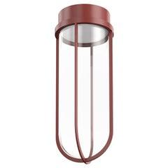 Flos In Vitro 3000K 0-10V LED Ceiling Light in Terracotta by Philippe Starck