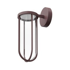 Flos In Vitro 3000K 0-10V LED Wall Scone in Deep Brown by Philippe Starck
