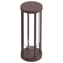 Flos In Vitro Bollard 1 0-10V 2700K Floor Lamp in Deep Brown by Philippe Starck