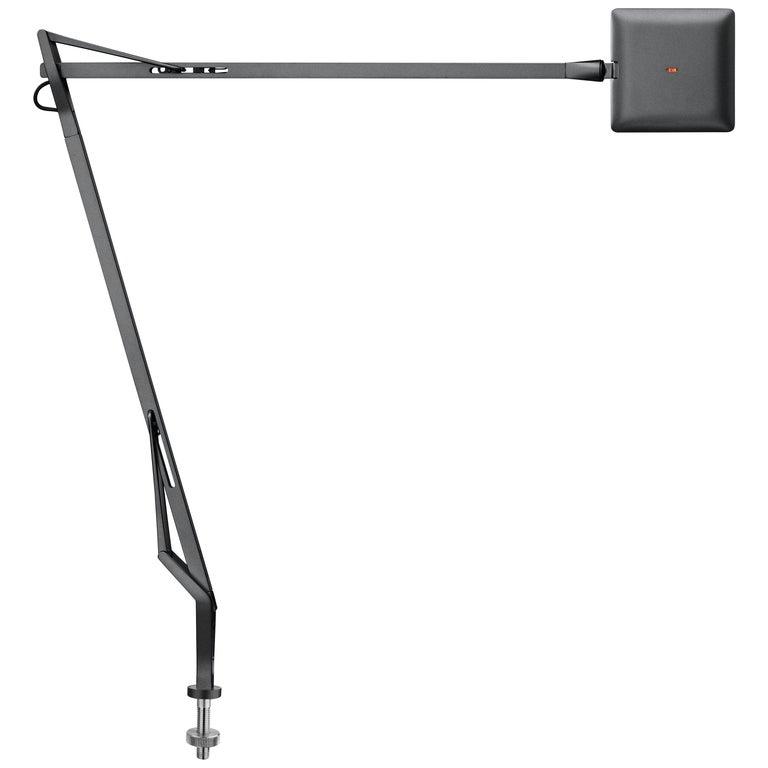 Flos Kelvin Edge Led Desk Support Table Lamp In Titanium By Antonio