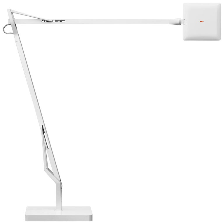 Flos Kelvin Edge Led Table Lamp In White By Antonio Citterio For