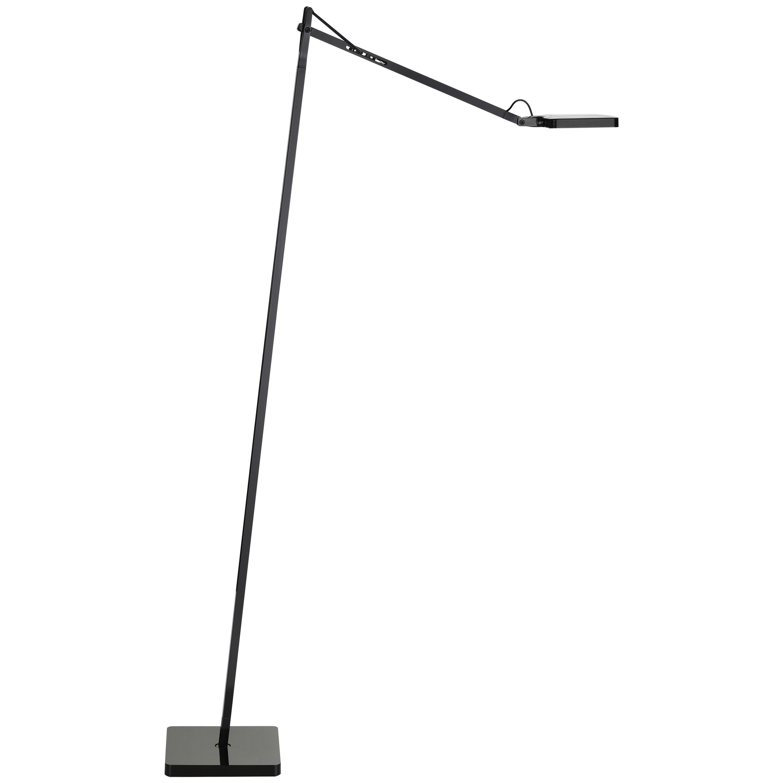 FLOS Kelvin Led F Floor Lamp in Black by Antonio Citterio & Toan Nguyen