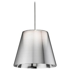 FLOS Ktribe S1 Halogen Pendant Light in Aluminized Silver by Philippe Starck