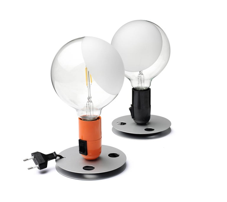 FLOS Lampadina LED Table Lamp in Black by Achille Castiglioni For Sale 3