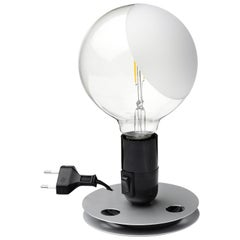 FLOS Lampadina LED Table Lamp in Black by Achille Castiglioni