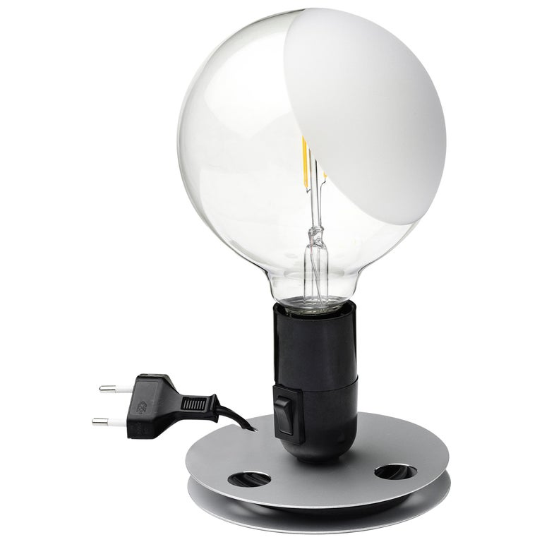 FLOS Lampadina LED Table Lamp in Black by Achille Castiglioni For Sale