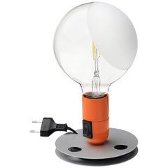 FLOS Lampadina LED Table Lamp in Orange by Achille Castiglioni