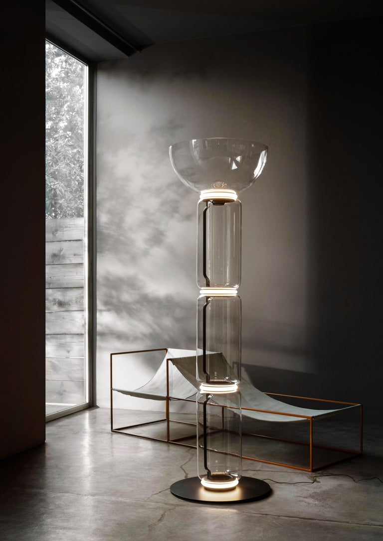 Modern Flos Noctambule Floor Lamp with 3 Cylinders, Bowl and Base by Konstantin Grcic For Sale