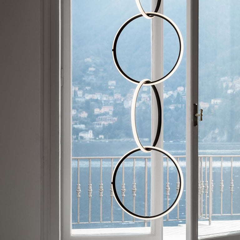 Contemporary FLOS Medium Circle & Broken Line Arrangements Light by Michael Anastassiades For Sale