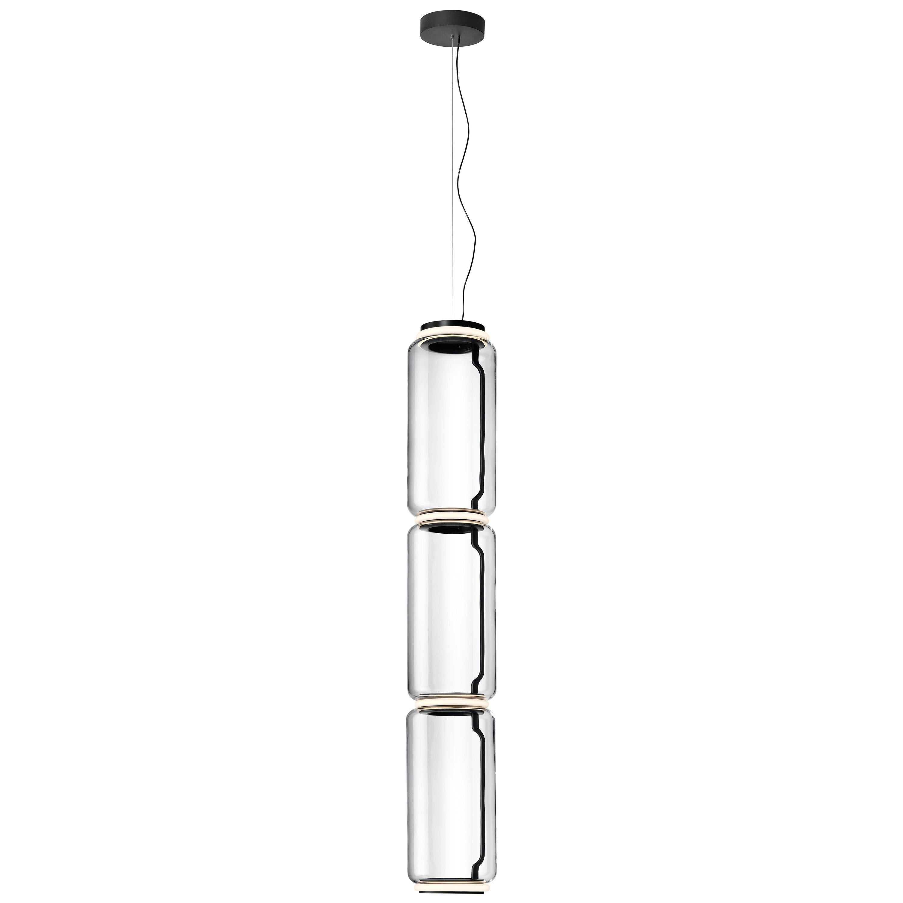 Flos Noctambule Pendant Light with 3 High Cylinders by Konstantin Grcic