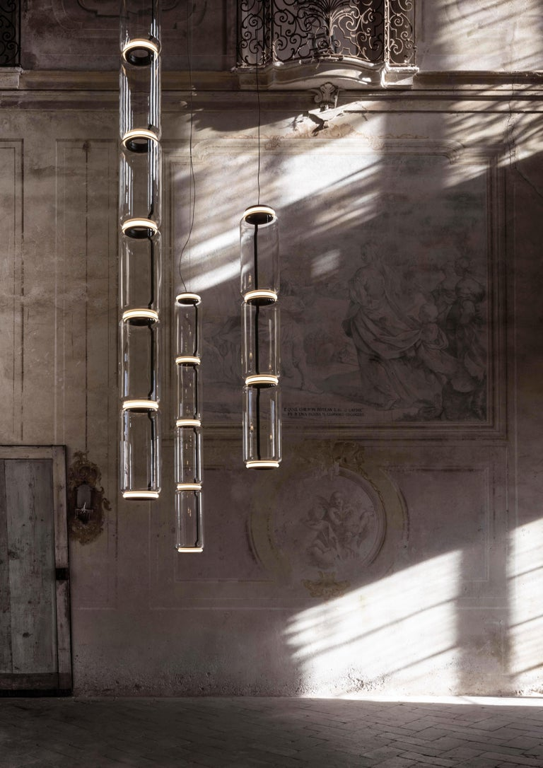 Italian Flos Noctambule Pendant Light with 4 Cylinders by Konstantin Grcic For Sale