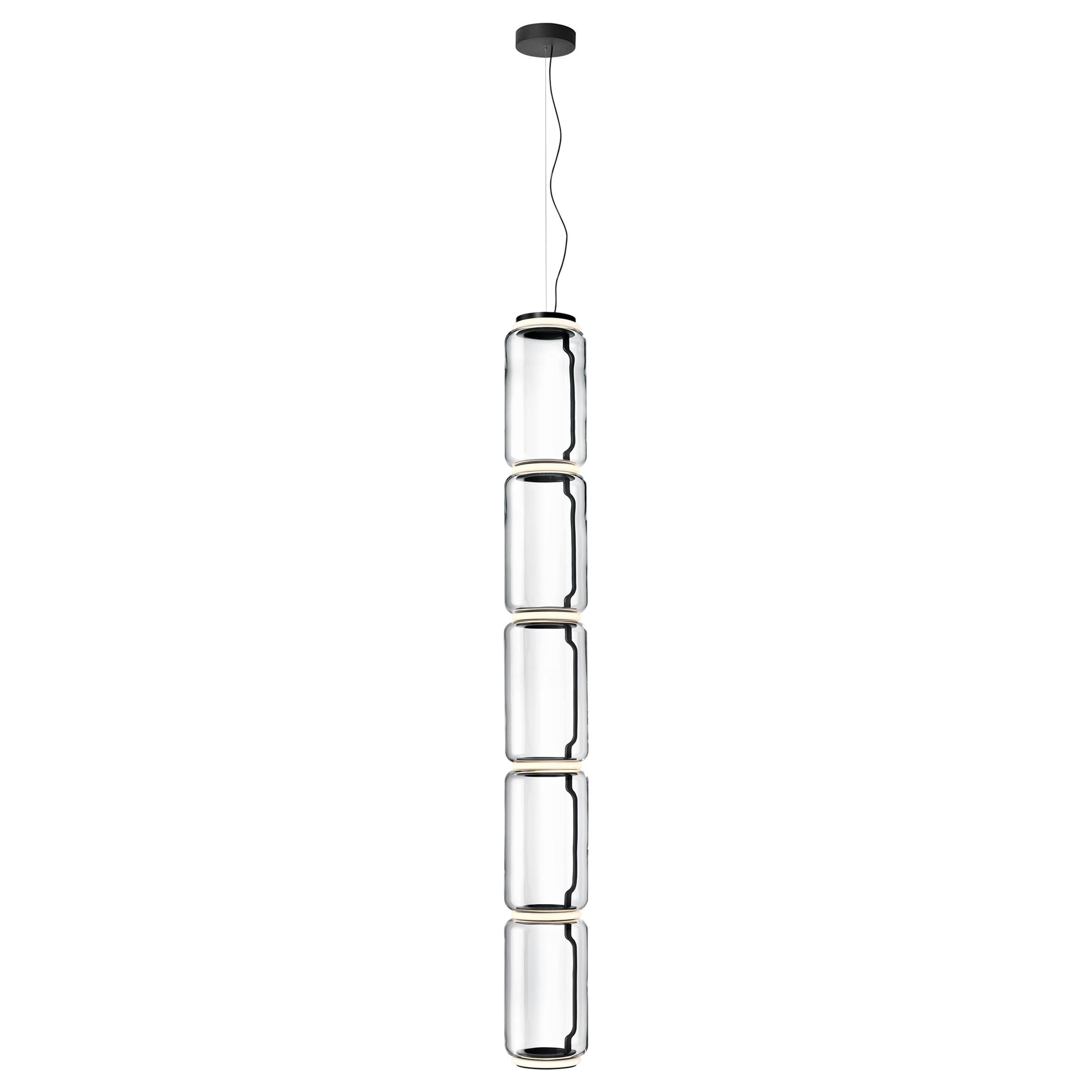 Flos Noctambule Pendant Light with 5 Cylinders by Konstantin Grcic