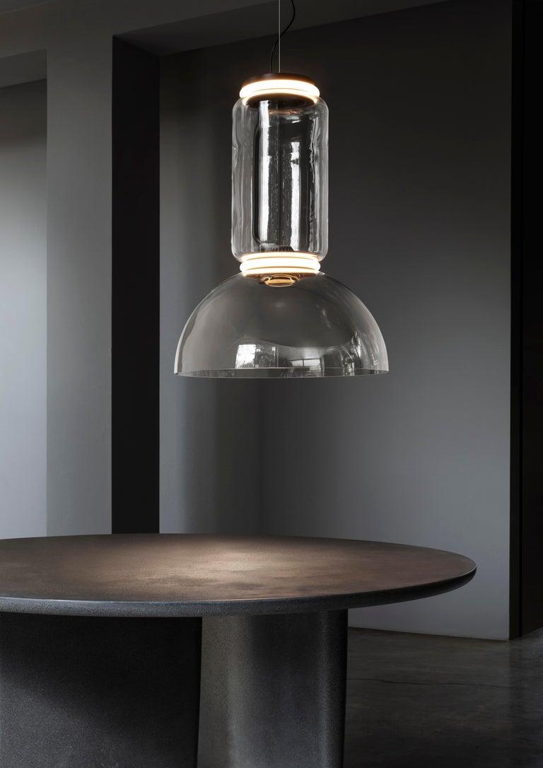 Modern Flos Noctambule Pendant Light with Cylinder & Bowl by Konstantin Grcic For Sale