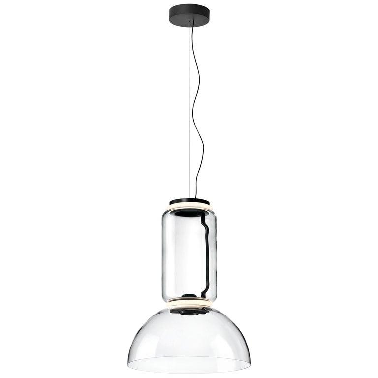 Flos Noctambule Pendant Light with Cylinder & Bowl by Konstantin Grcic For Sale