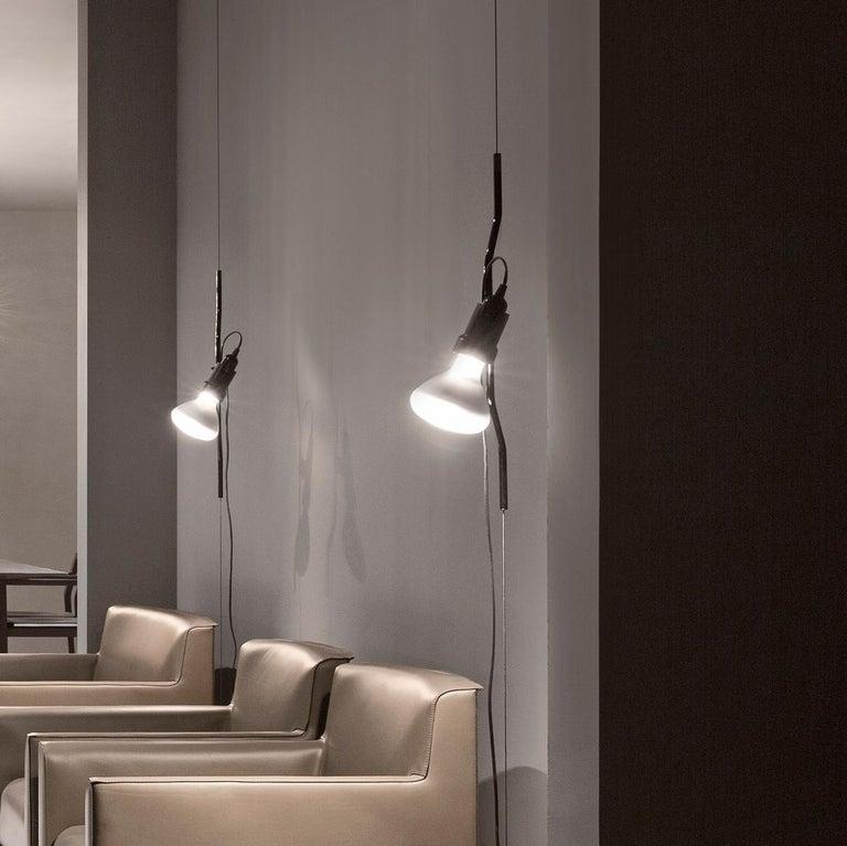 Flos Parentesi Pendant Light in Nickel by Achille Castiglioni & Pio Manzu For Sale 6