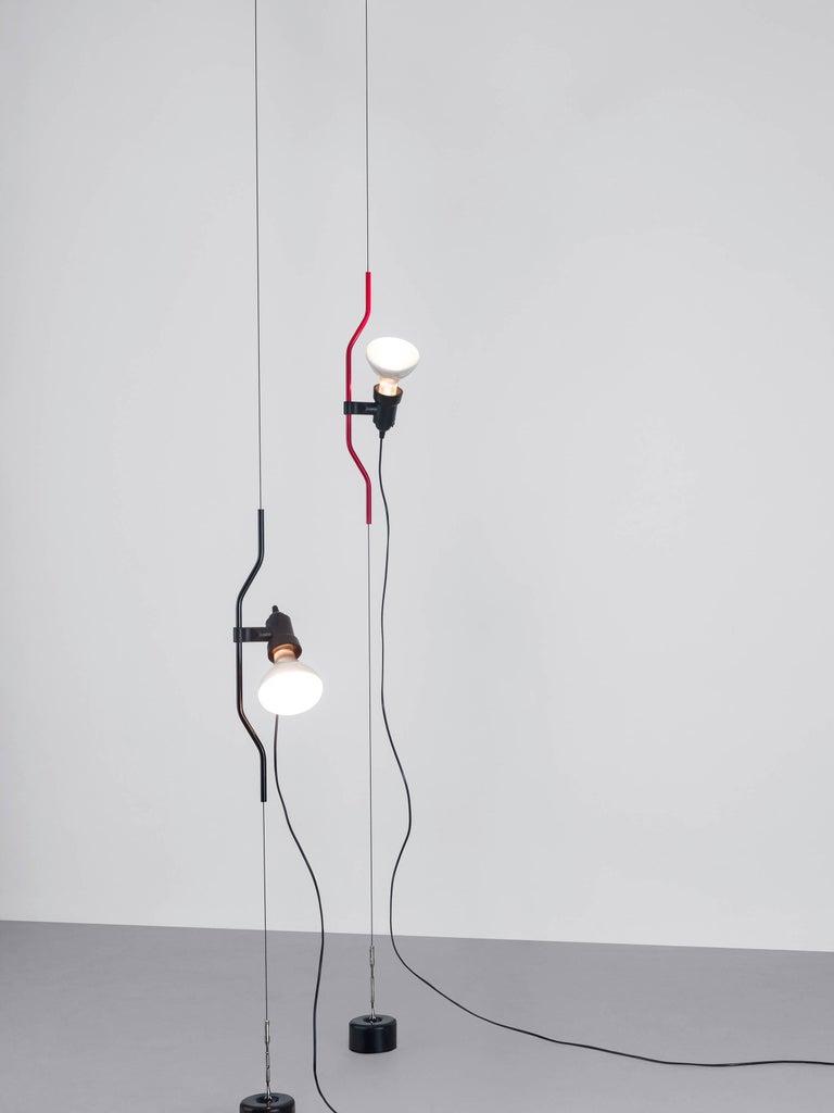 Modern FLOS Parentesi Pendant Light in Nickel by Achille Castiglioni & Pio Manzu For Sale
