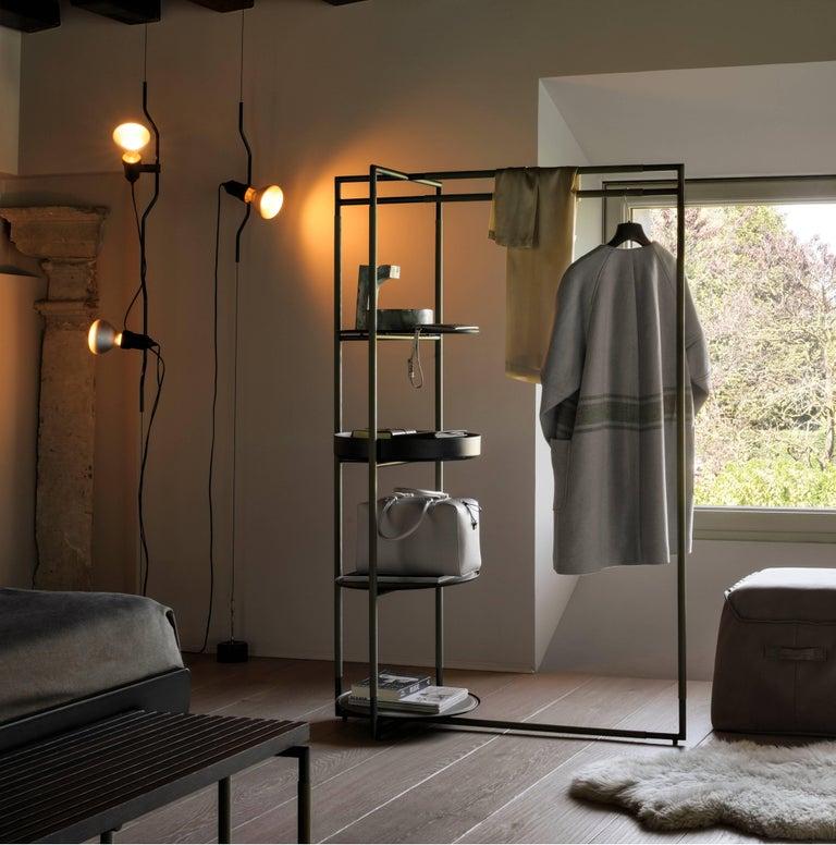 Italian FLOS Parentesi Pendant Light in Nickel by Achille Castiglioni & Pio Manzu For Sale