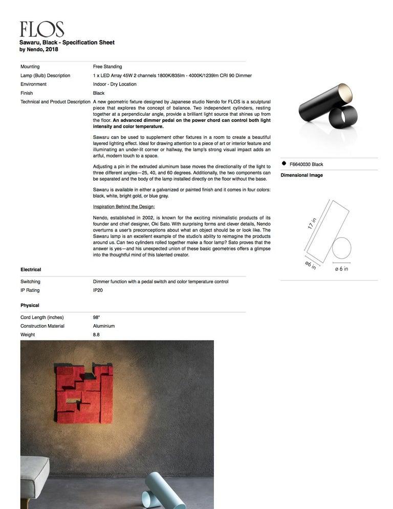 Flos Sawaru Floor Lamp by Nendo For Sale 18