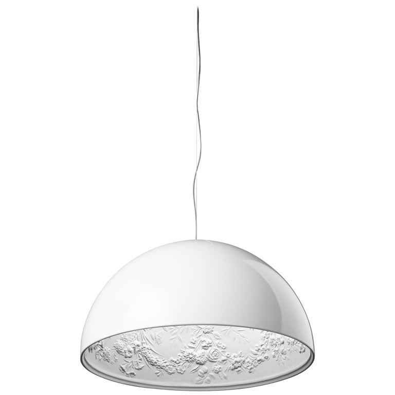 FLOS Sky Garden S2 Halogen Pendant Light in White by Marcel Wanders For Sale
