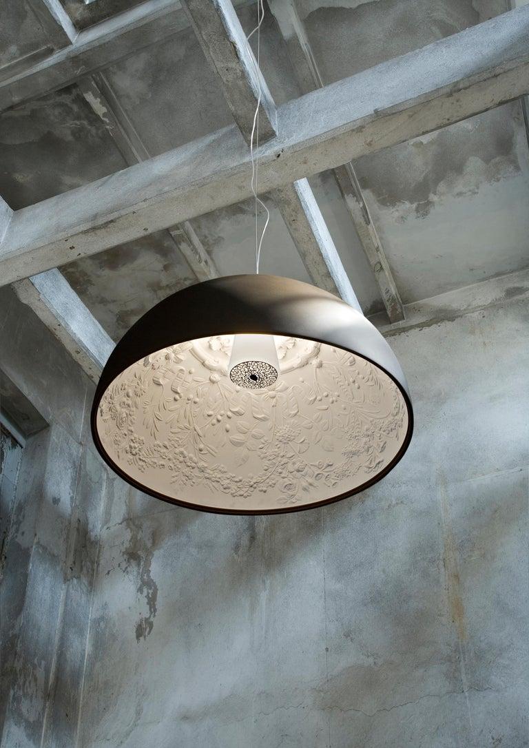 Modern FLOS Skygarden S1 Halogen Pendant Light in Black by Marcel Wanders For Sale